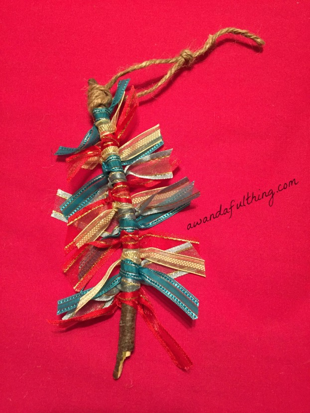 twig ribbon ornament