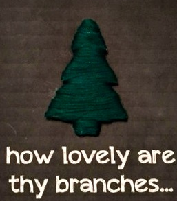Day 5: O Christmas Tree WallHanging